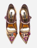 LEATHER MARY JANES WITH APPLIQUÉS
