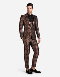 THREE-PIECE JACQUARD SUIT