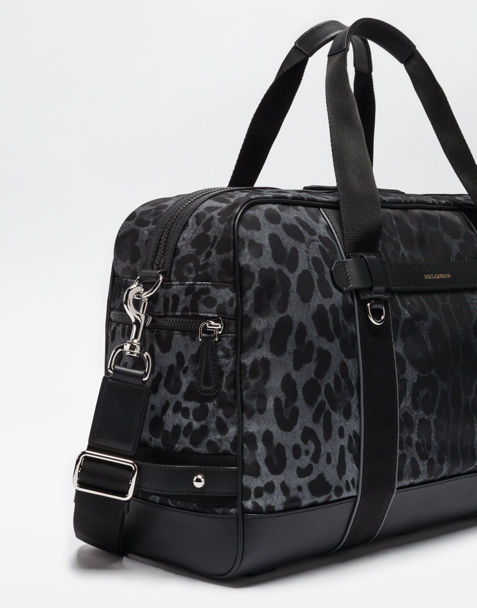 PRINTED NYLON TRAVEL BAG