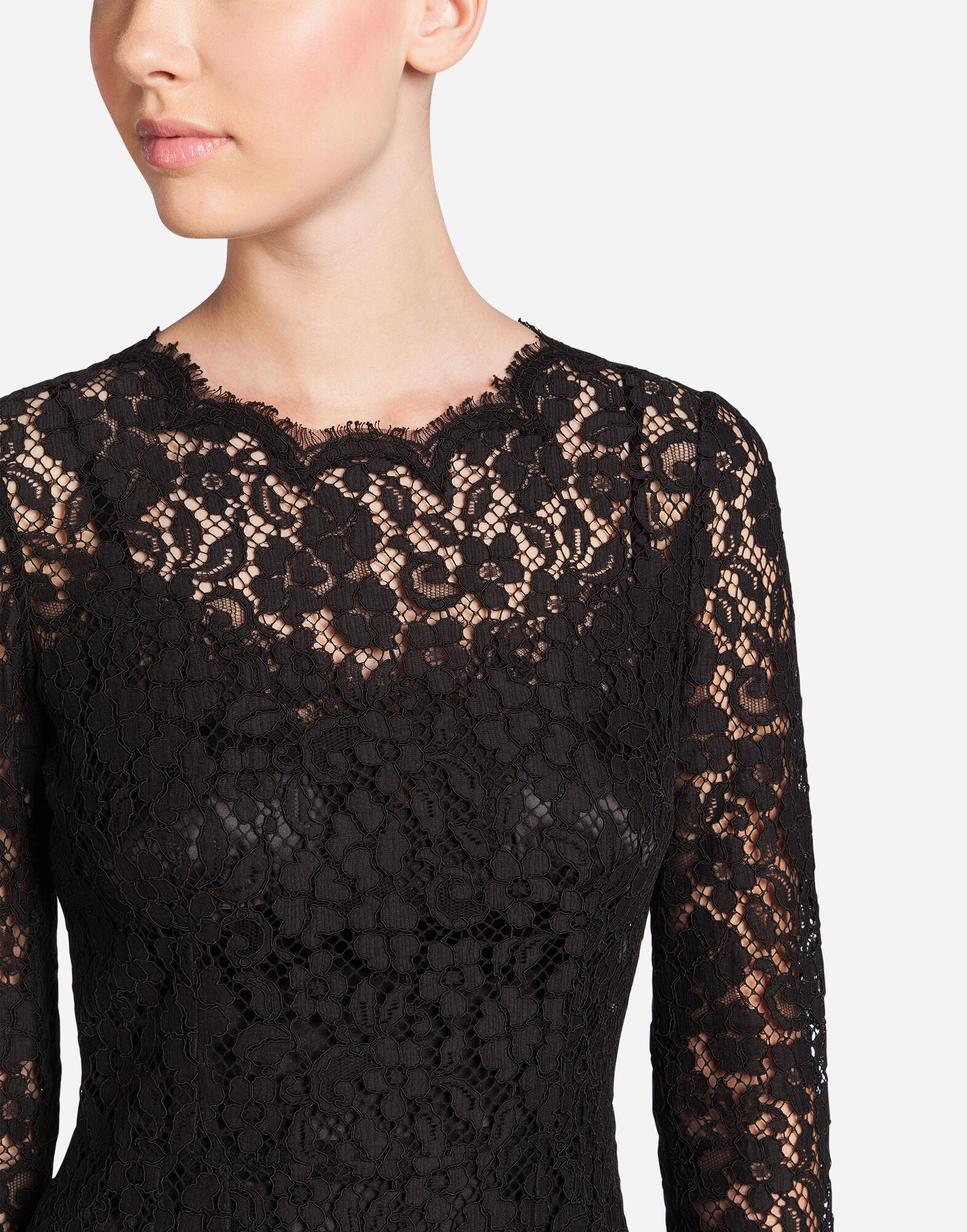 CORDONETTO LACE SHEATH DRESS