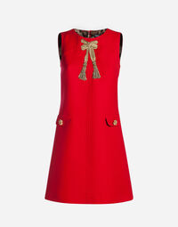 WOOL DRESS WITH EMBROIDERY
