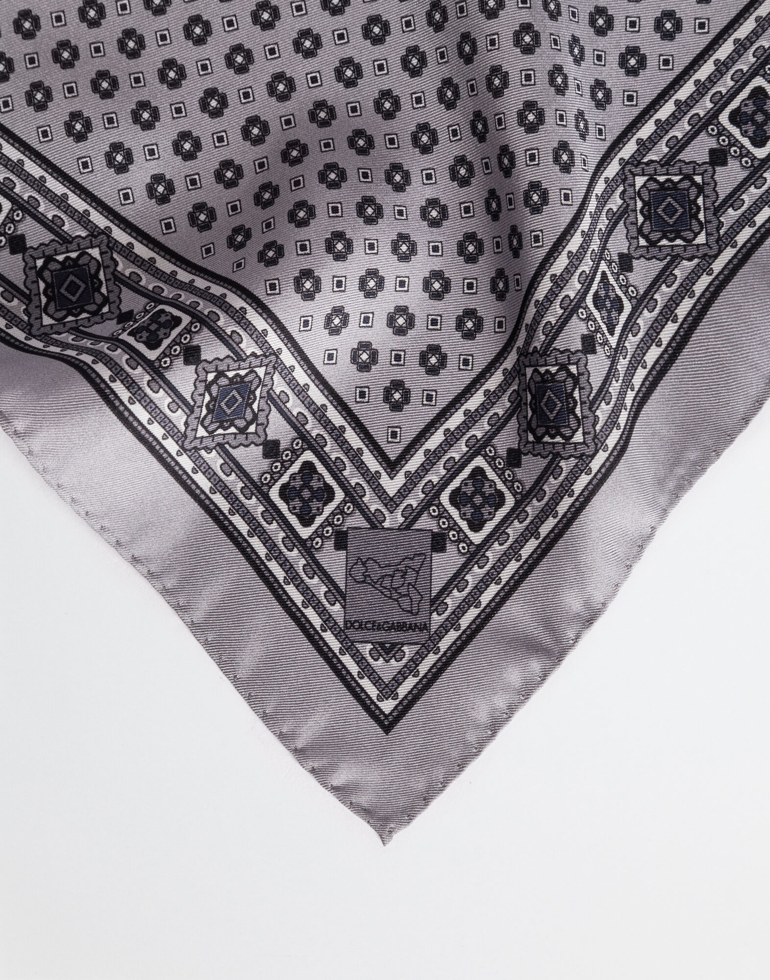 PRINTED SILK POCKET SQUARE