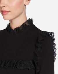 Dolce&Gabbana CASHMERE SWEATER WITH LACE DETAILS
