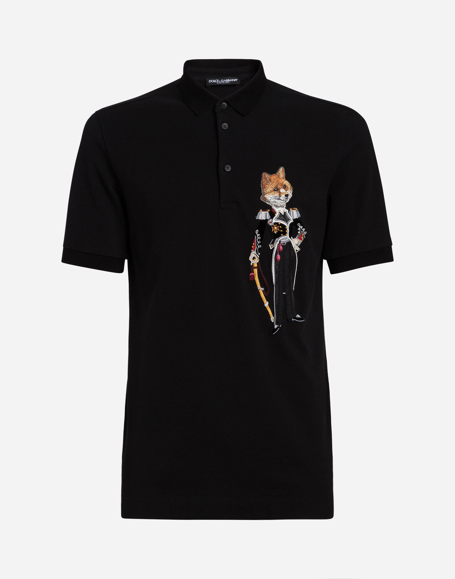 COTTON PIQUÉ POLO SHIRT WITH PATCH