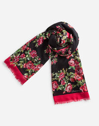 PRINTED MODAL/CASHMERE BLEND SCARF135 X 200