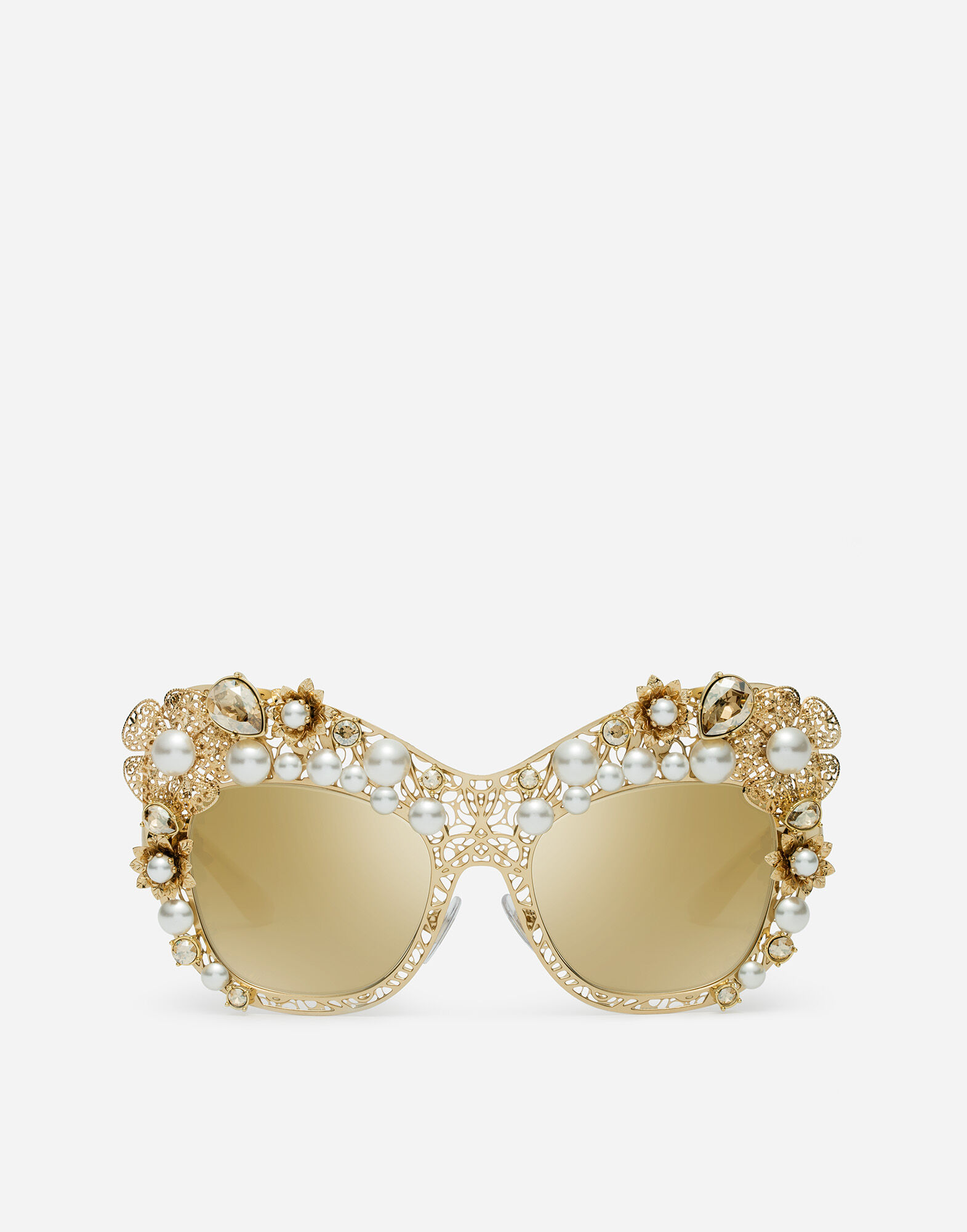 BUTTERFLY SUNGLASSES WITH HYDRANGEA EMBELLISHMENT