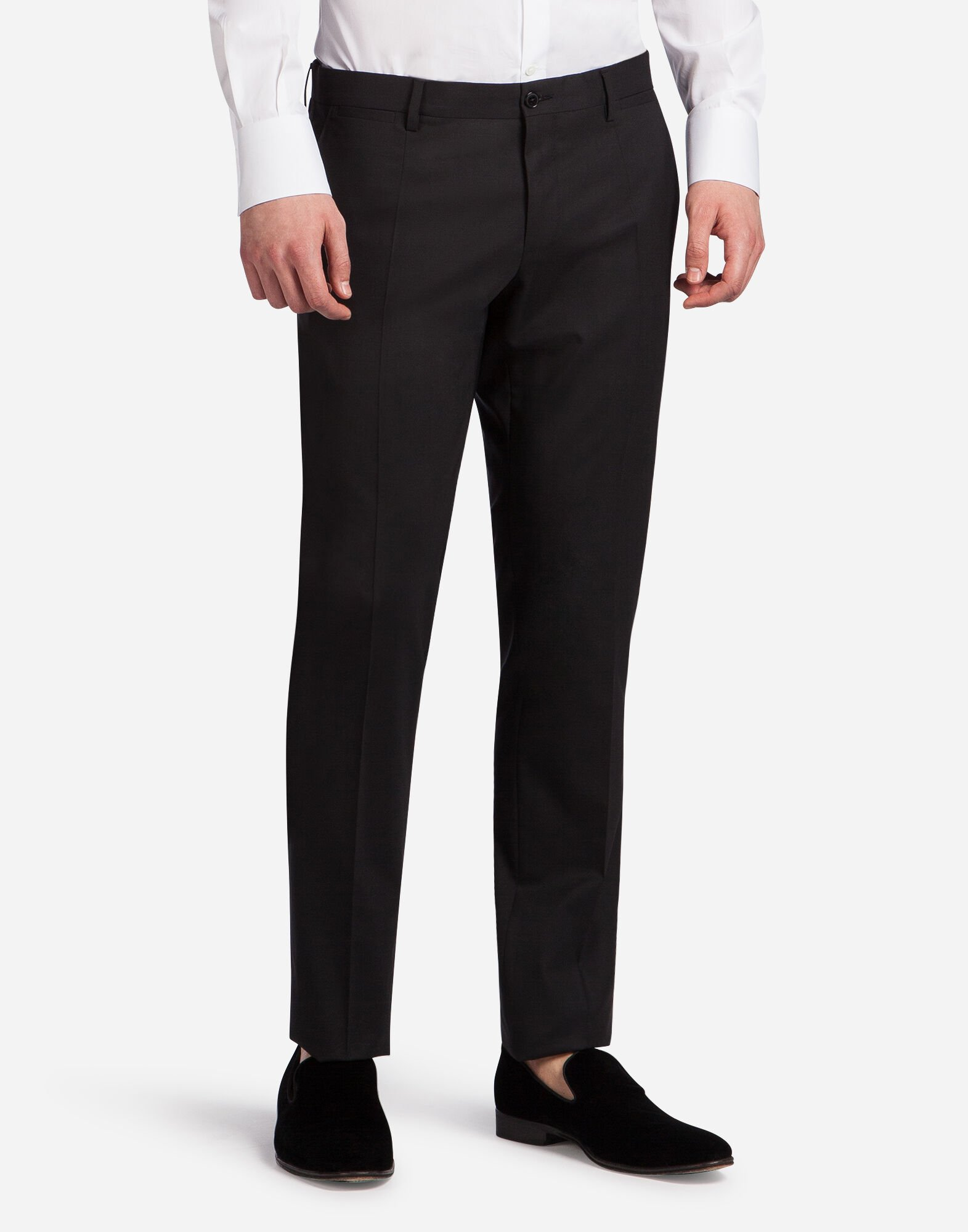 TROUSERS IN STRETCH WOOL