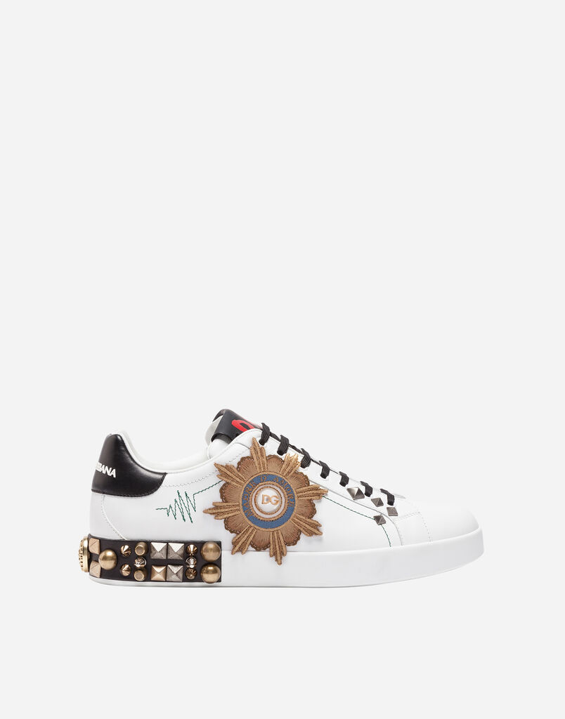 LEATHER SNEAKERS WITH APPLIQUÉ