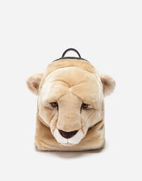 PLUSH BACKPACK IN FAUX FUR