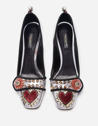 LEATHER PUMPS WITH APPLIQUÉ