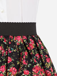 PRINTED COTTON CIRCLE SKIRT
