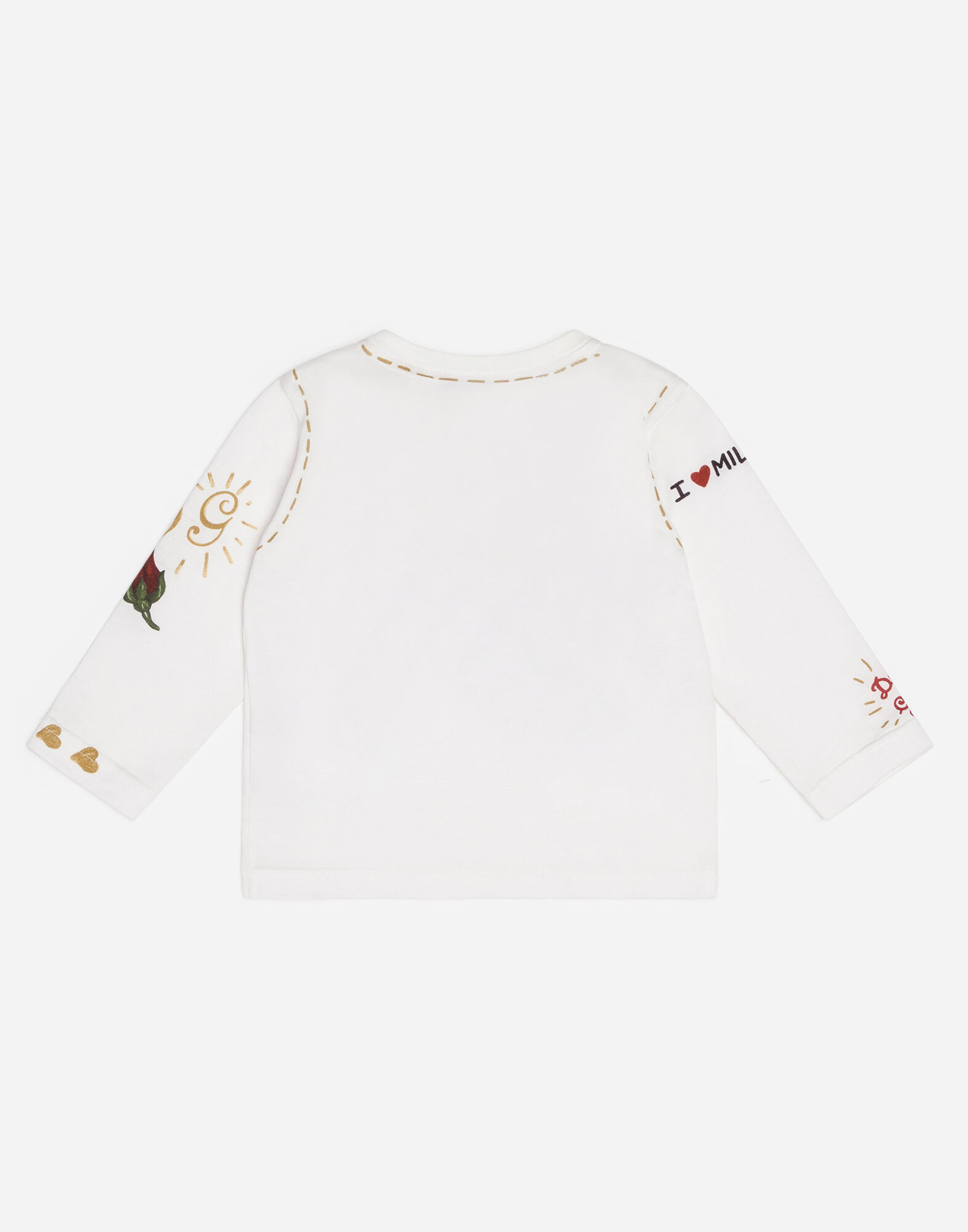 Dolce&Gabbana PRINTED COTTON T-SHIRT WITH PATCHES