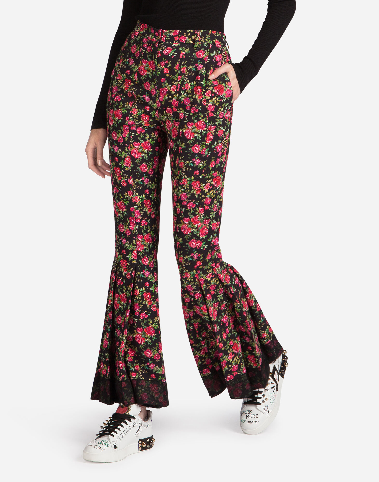 PRINTED SABLE PANTS