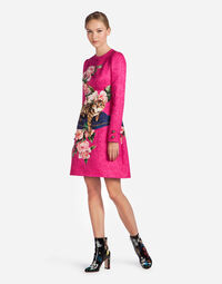 PRINTED BROCADE DRESS