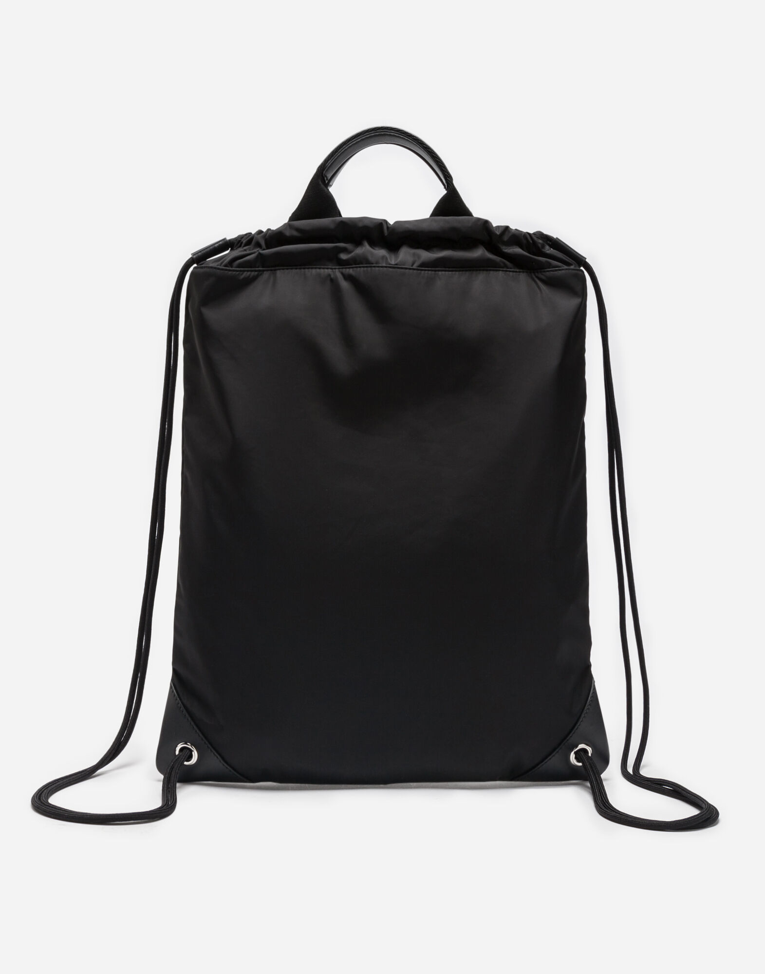 NYLON BACKPACK WITH PATCH AND DRAWSTRING