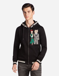 COTTON HOODIE WITH DG FAMILY PATCH