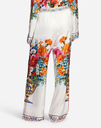 PRINTED SILK PAJAMA PANTS
