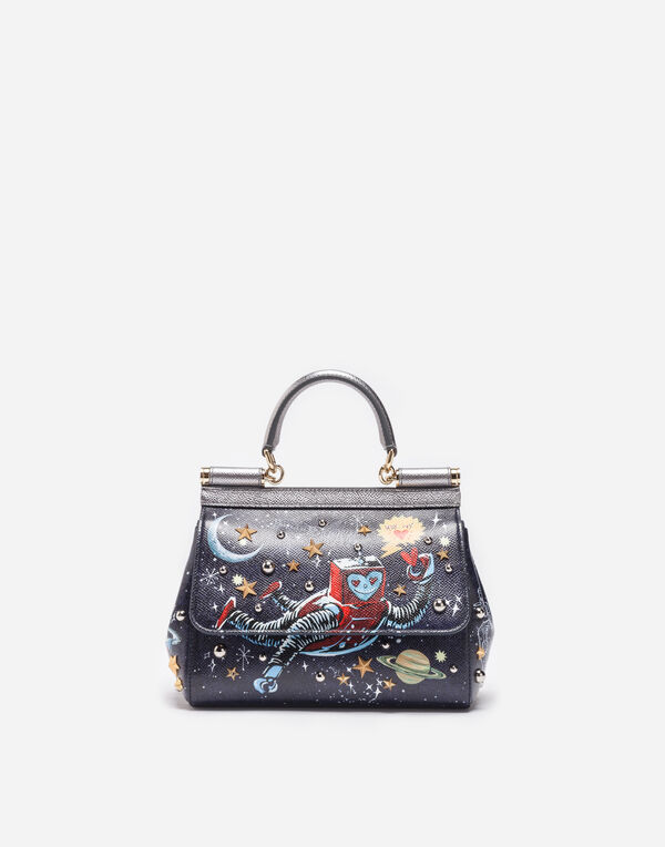 SMALL LEATHER SICILY BAG WITH PATCH