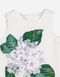 CADY A-LINE DRESS WITH EMBROIDERY AND BLOOMERS