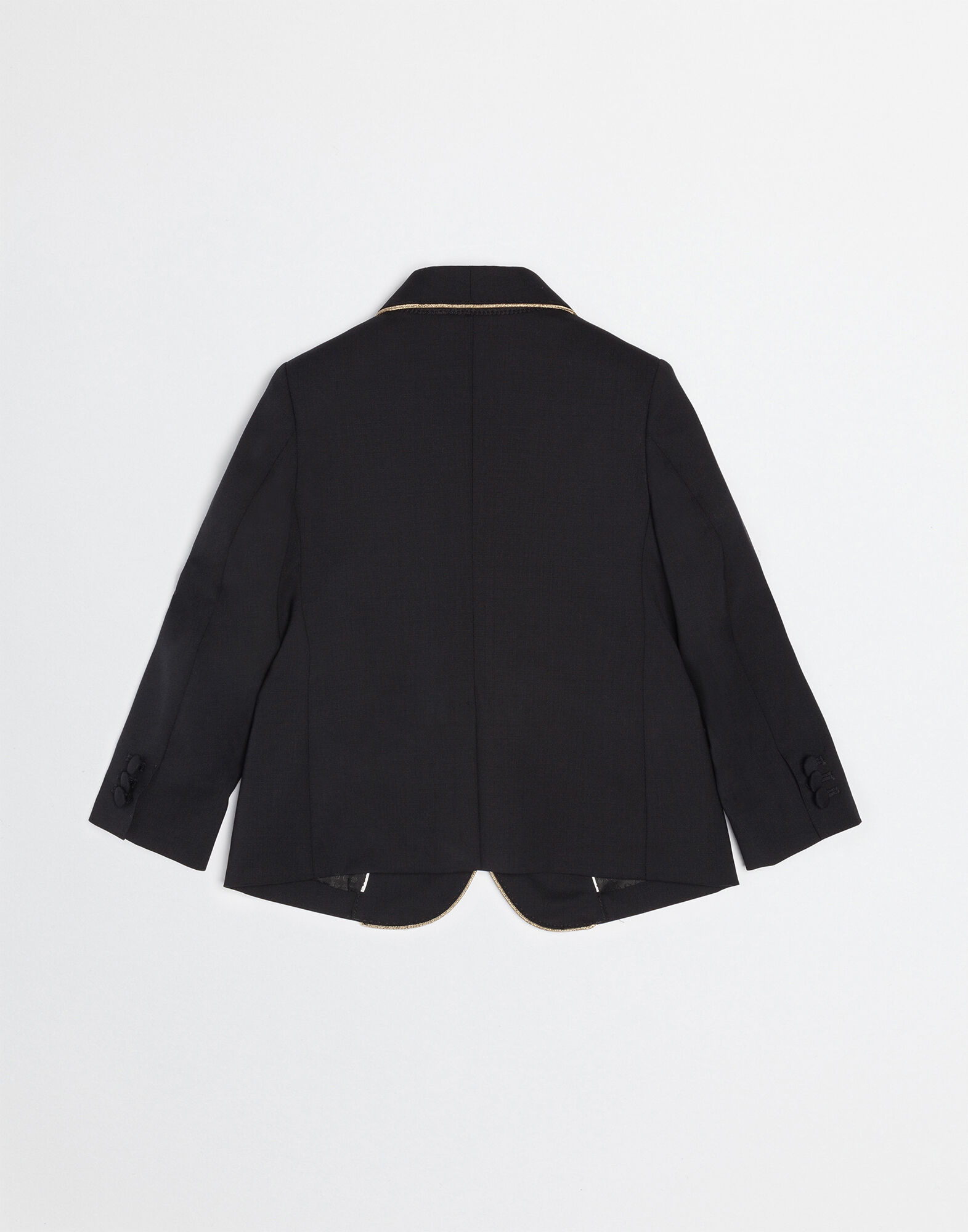 WOOL CLOTH JACKET WITH EMBROIDERY