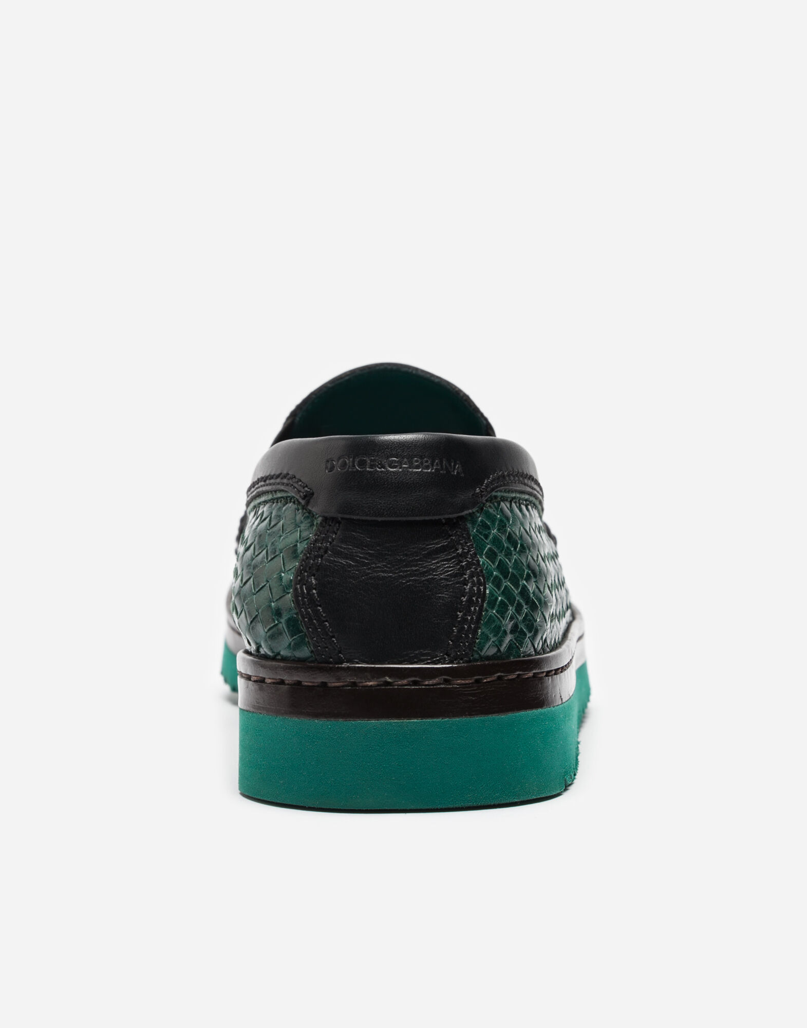 SLIP ON IN WOVEN LEATHER