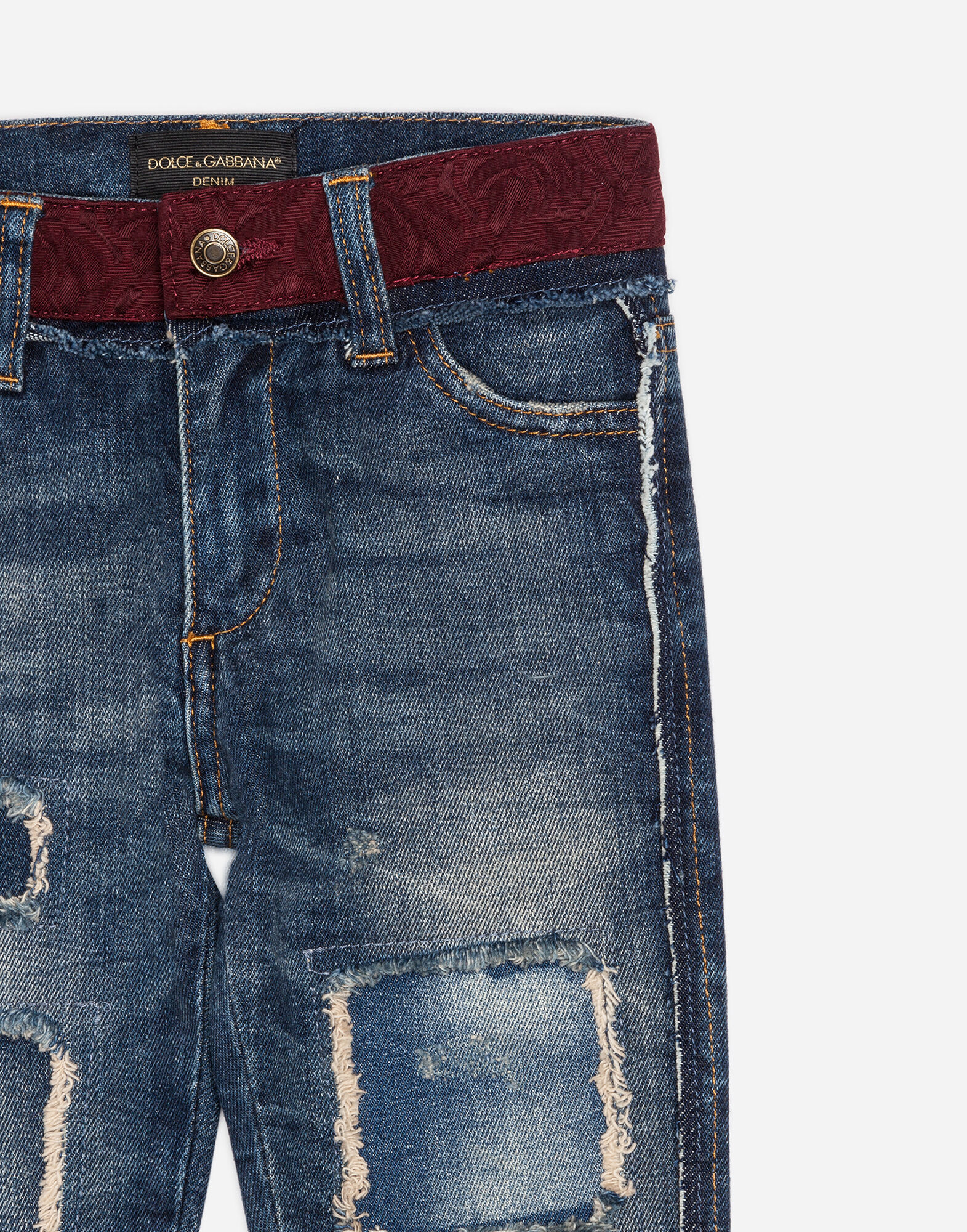 Dolce&Gabbana STRETCH JEANS WITH PATCHES