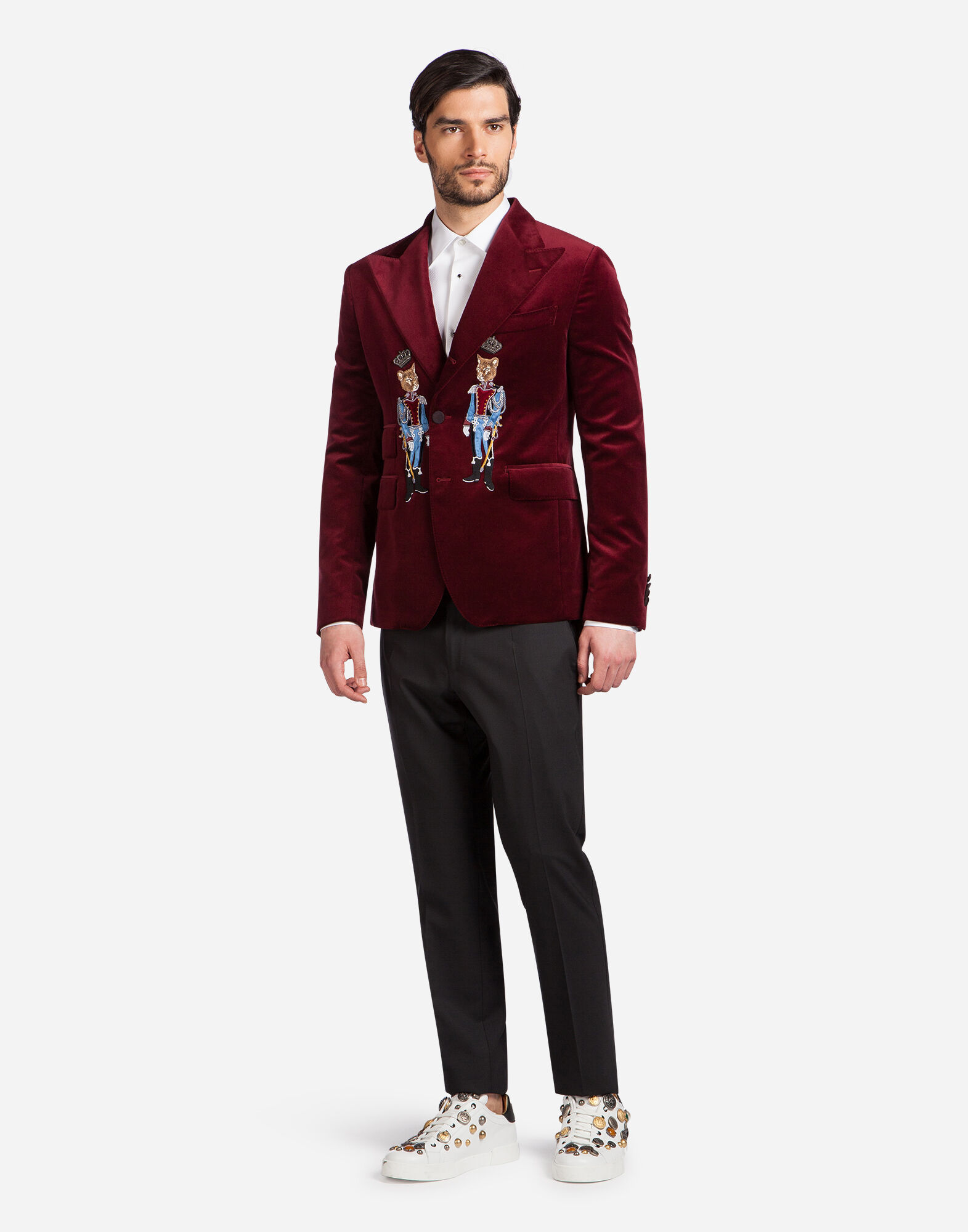 VELVET JACKET WITH PATCH
