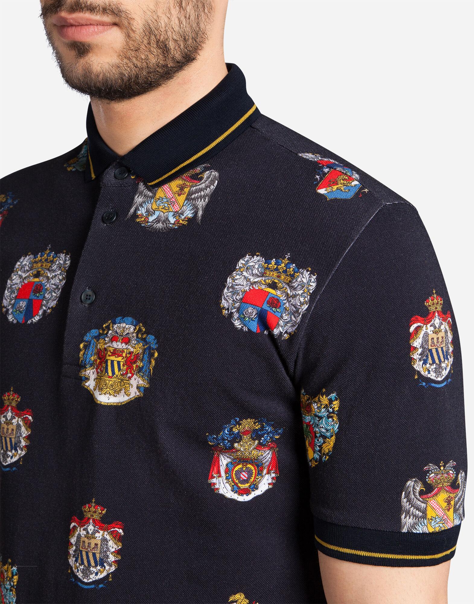 Dolce&Gabbana PRINTED COTTON PIQUÉ POLO SHIRT