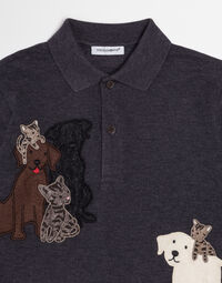 POLO SHIRT IN COTTON PIQUET WITH PATCH
