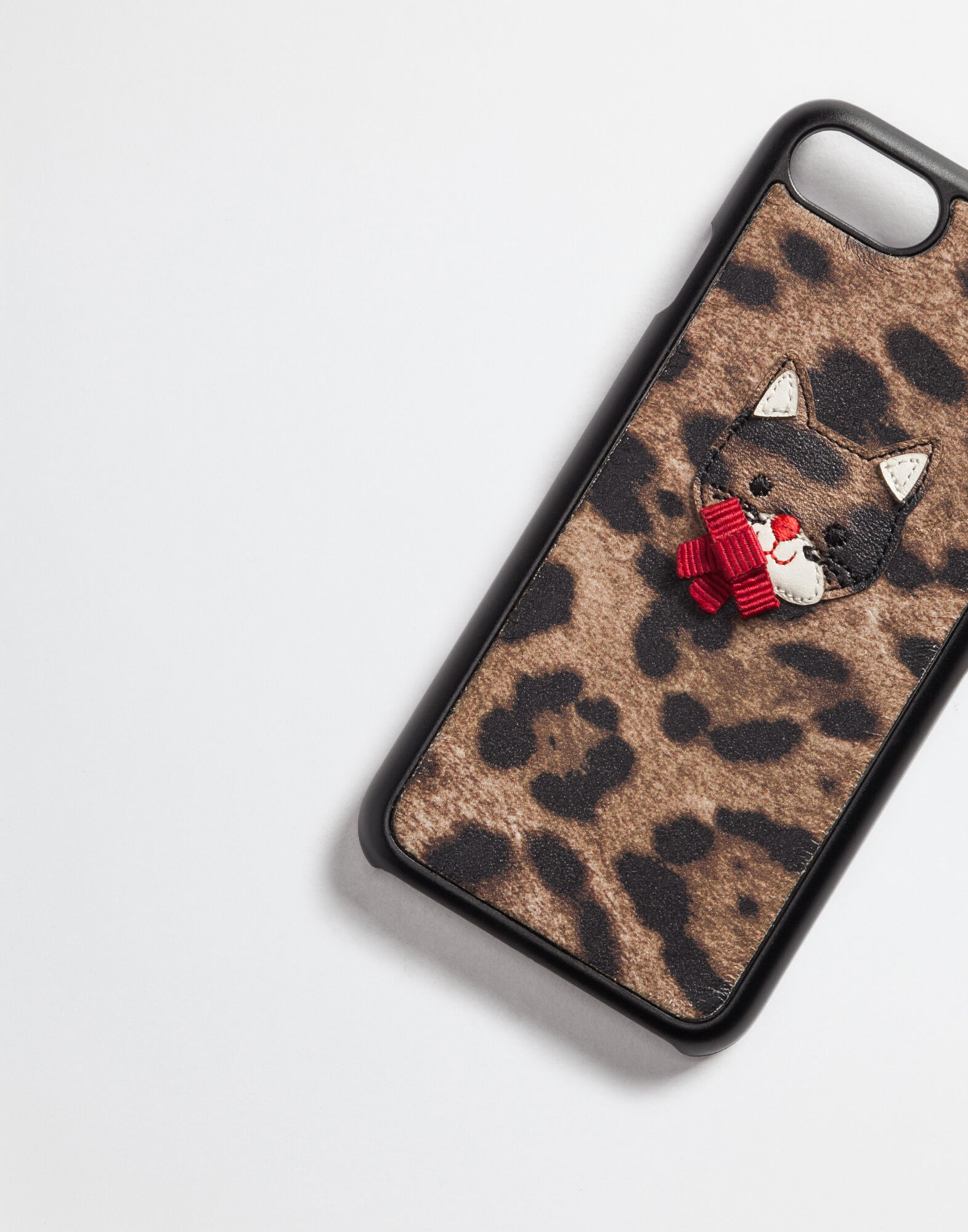 PRINTED LEATHER IPHONE 7 COVER WITH PATCH