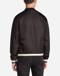 BOMBER JACKET IN NYLON WITH LOGOED TAG