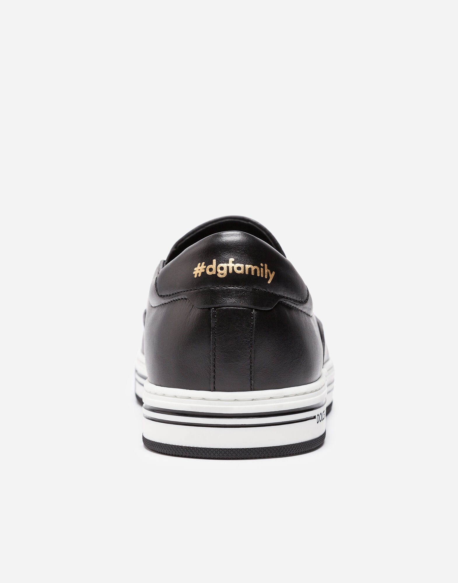 SLIP-ON SNEAKERS WITH PATCHES OF THE DESIGNERS