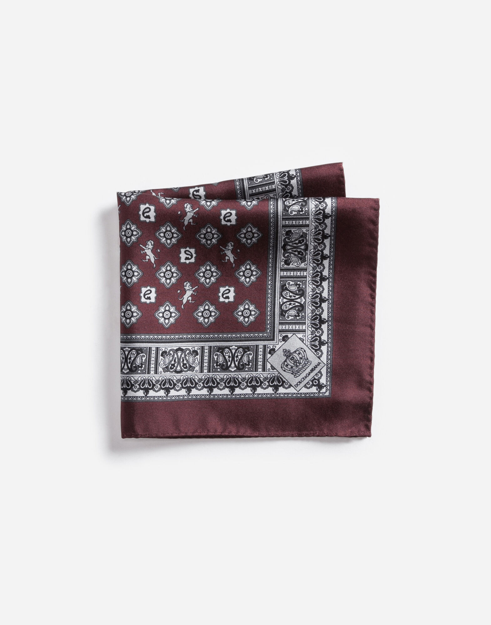 POUCH IN PRINTED SILK