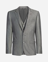 THREE-PIECE WOOL DRESS SUIT