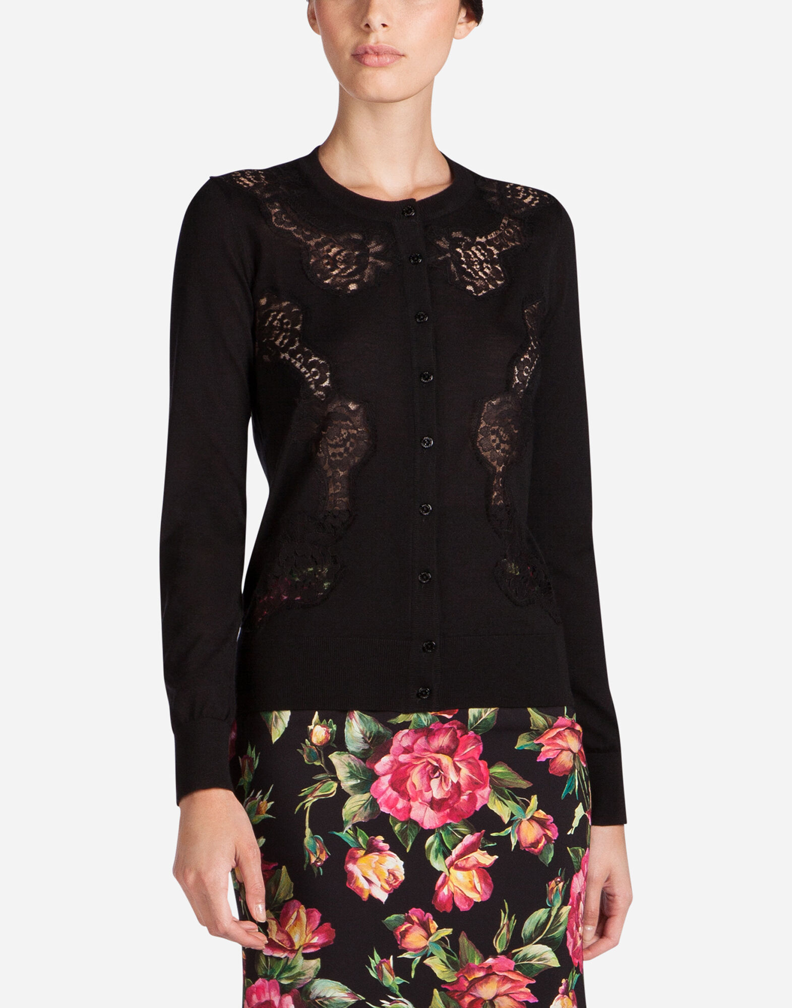 Sweaters and cardigans for women | Dolce&Gabbana - CARDIGAN WITH ...