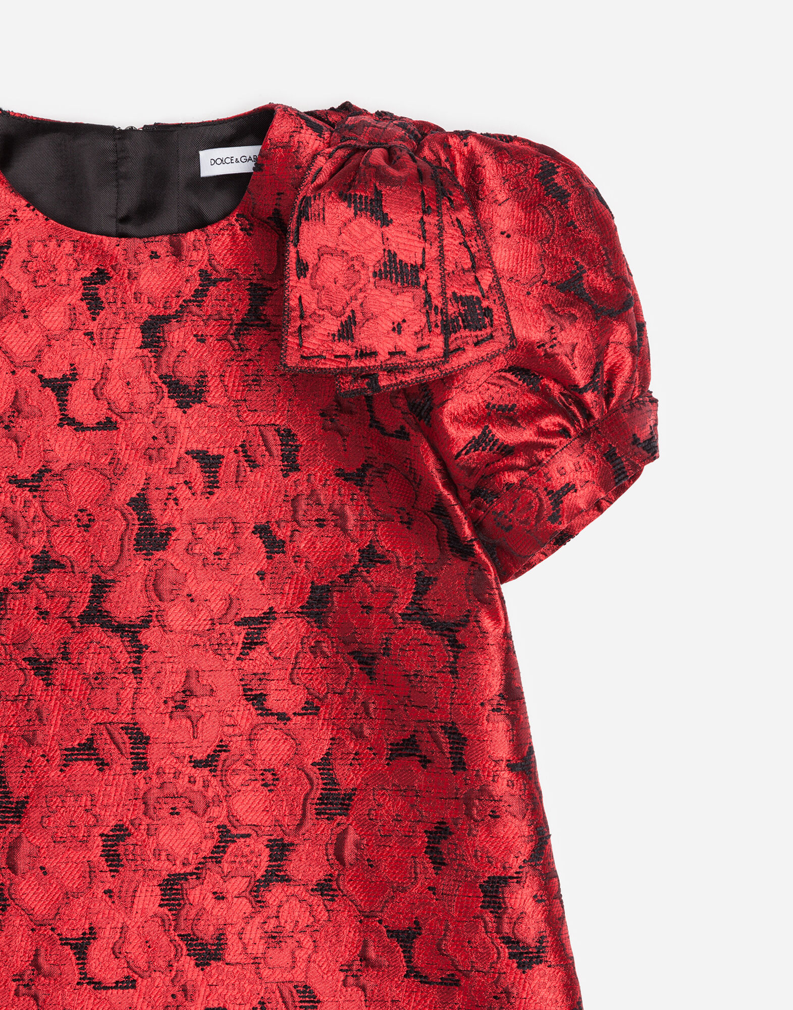 A-LINE DRESS IN FLORAL JACQUARD