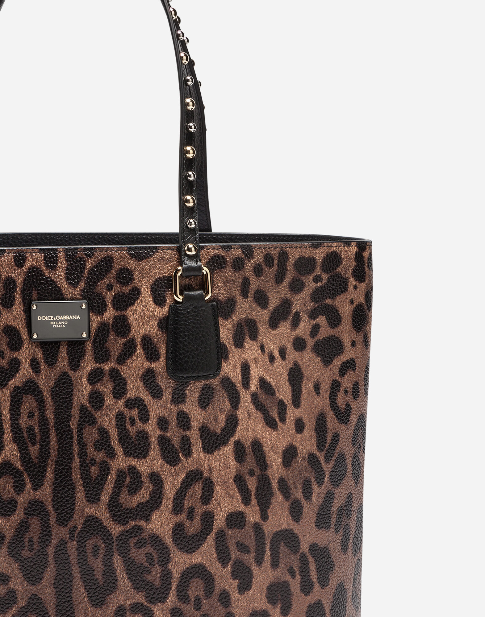 GLAM SHOPPER BAG IN PRINTED LEATHER