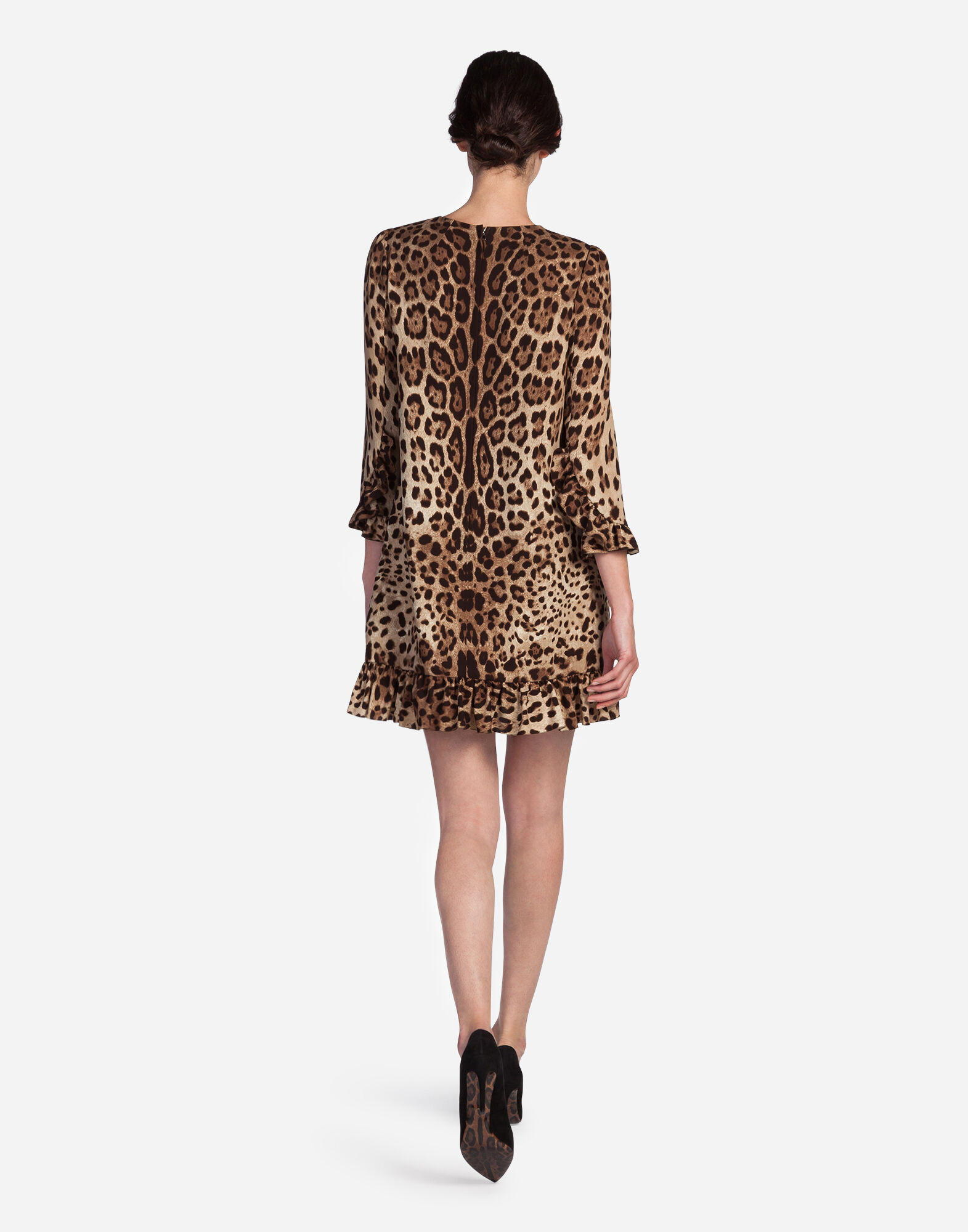LEOPARD PRINT CADY DRESS