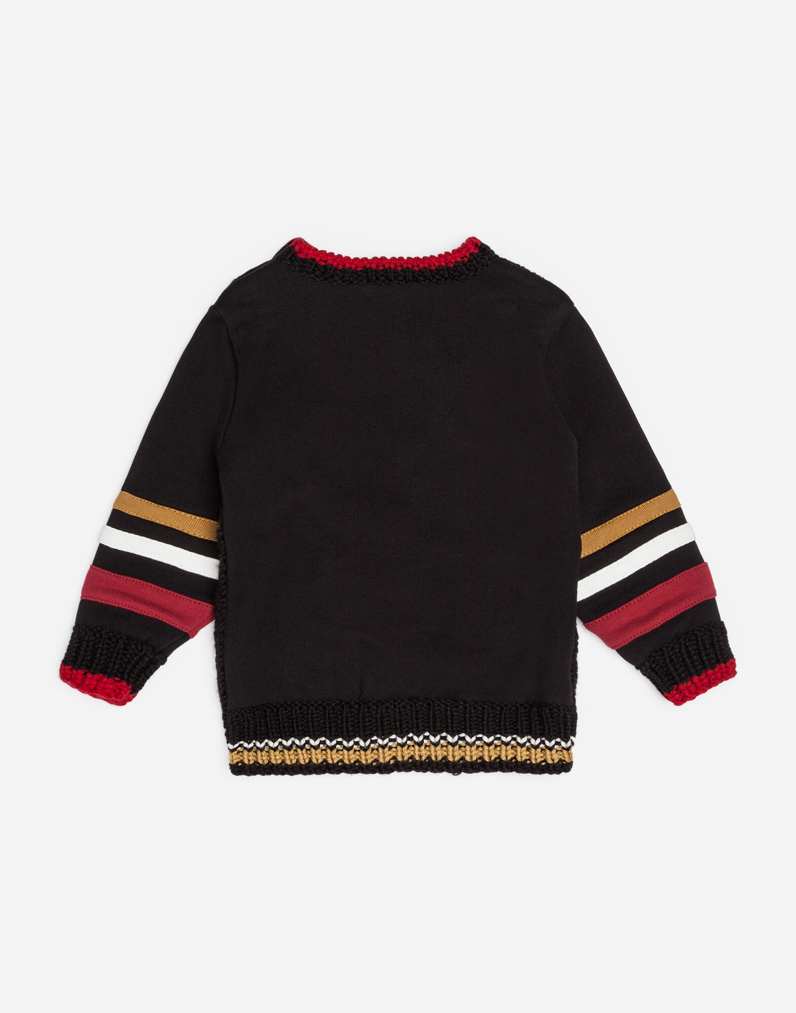 MIXED MATERIAL SWEATSHIRT WITH EMBROIDERY