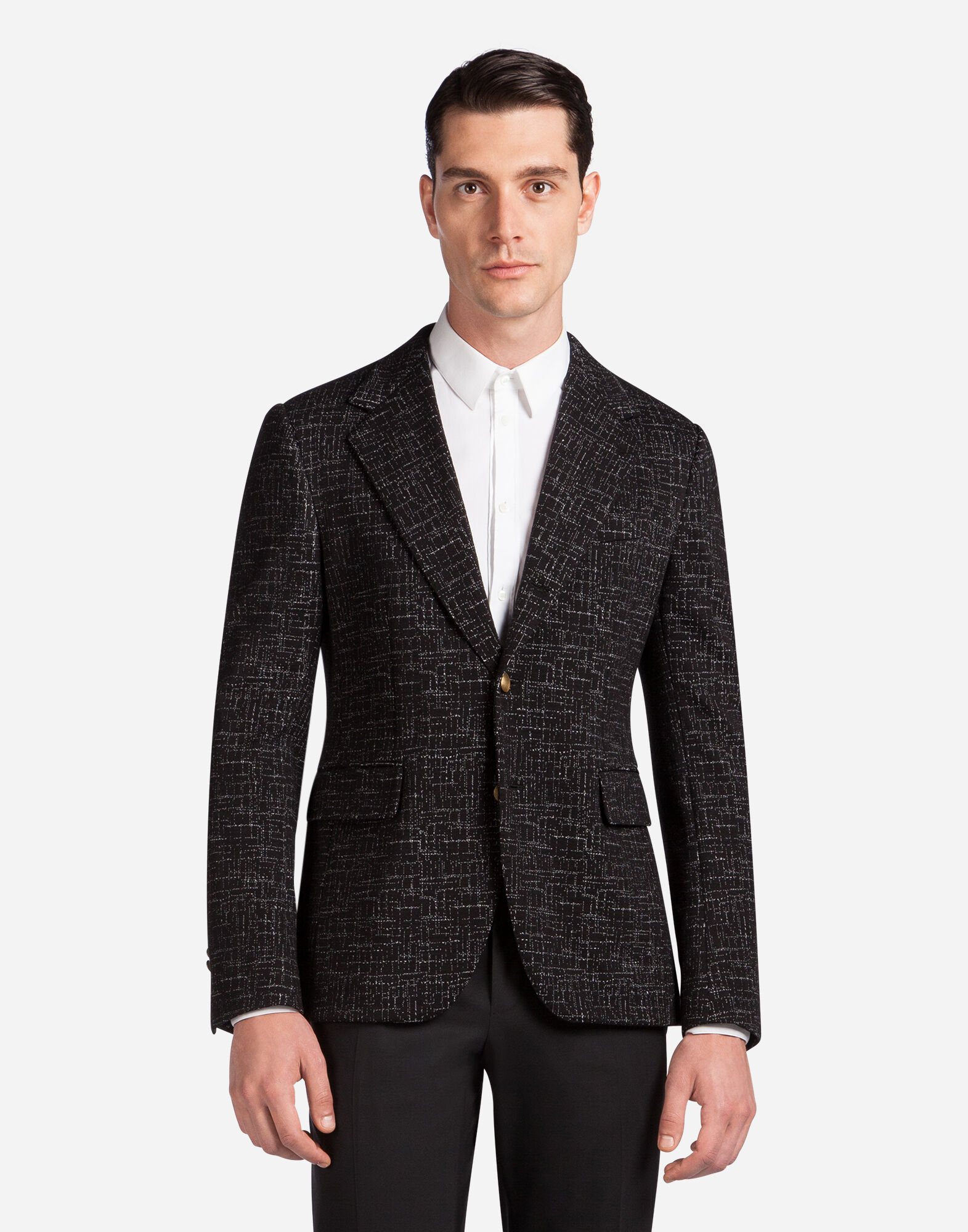 MICRO-PATTERNED JERSEY JACKET