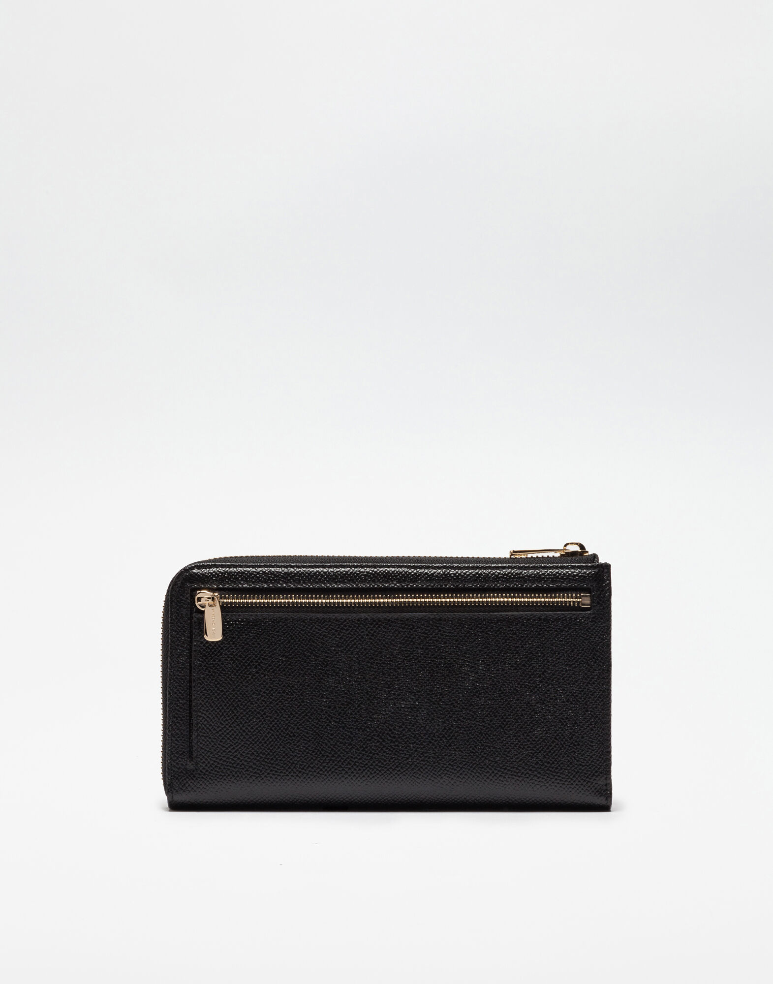 DAUPHINE LEATHER ZIP-AROUND WALLET WITH PADLOCK