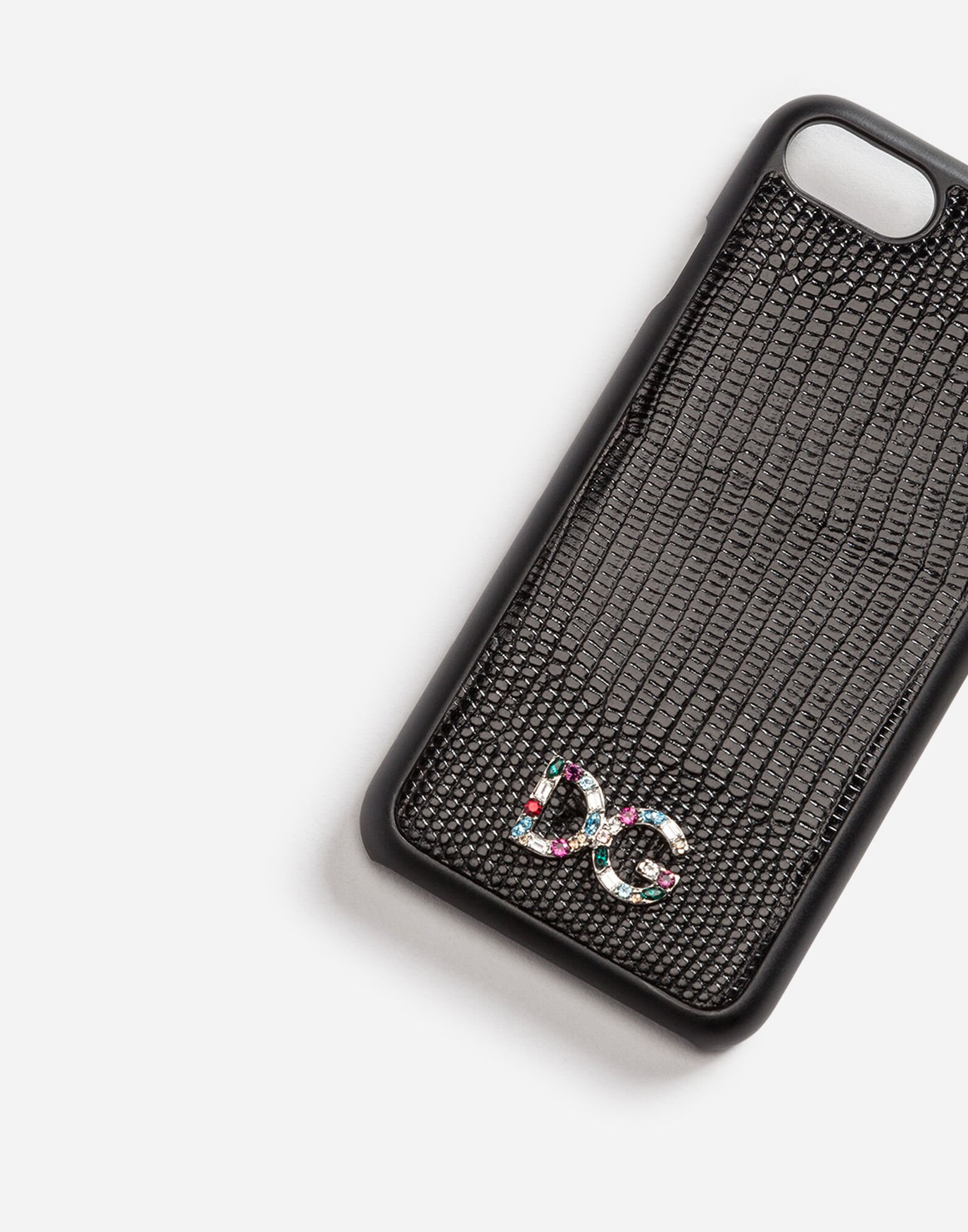 IPHONE 7 COVER WITH LEATHER DETAIL AND LOGO PATCH