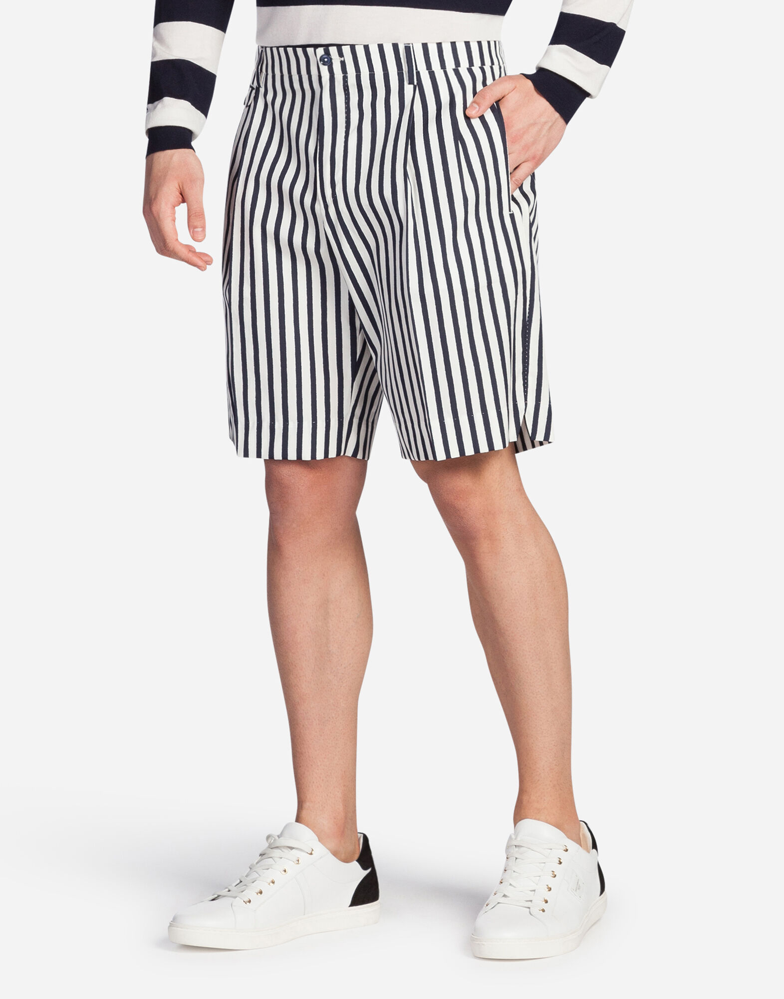 BERMUDA SHORTS IN PRINTED COTTON
