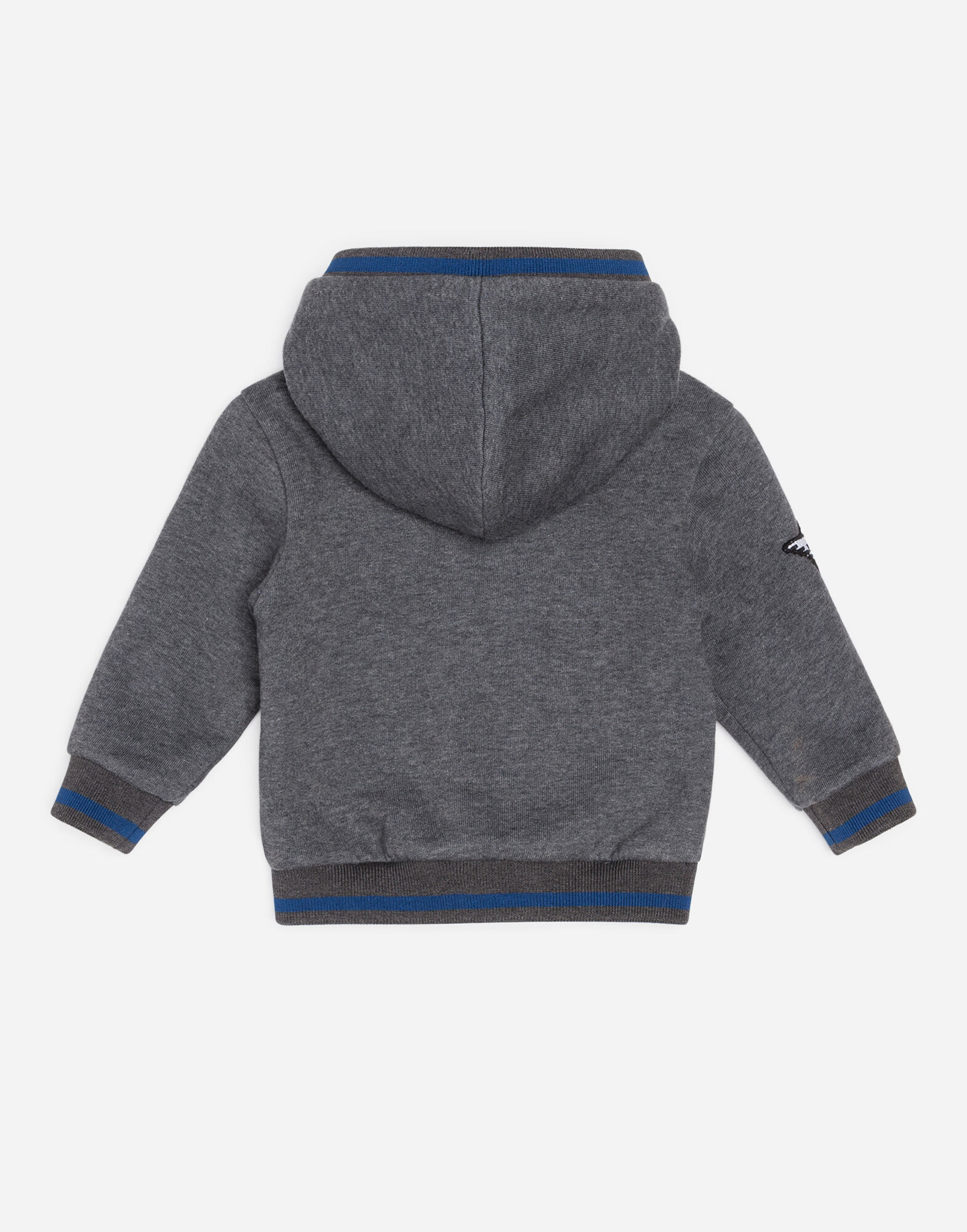 COTTON SWEATER WITH PATCHES