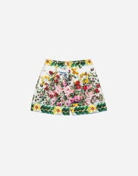 PRINTED COTTON SHORTS
