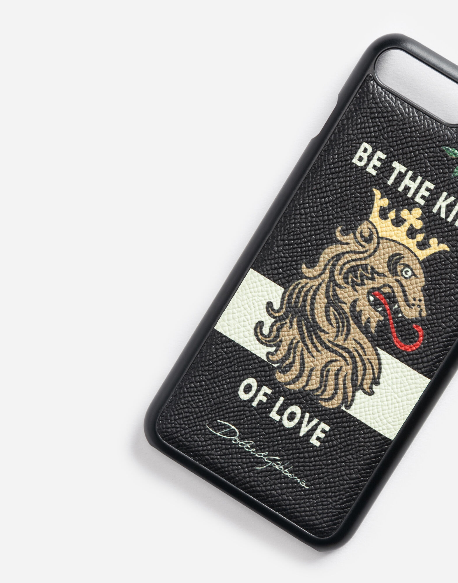 iPHONE 7 PLUS COVER WITH PRINTED DAUPHINE LEATHER DETAIL