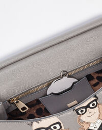 MEDIUM SICILY HANDBAG IN DAUPHINE LEATHER WITH DG FAMILY PATCH