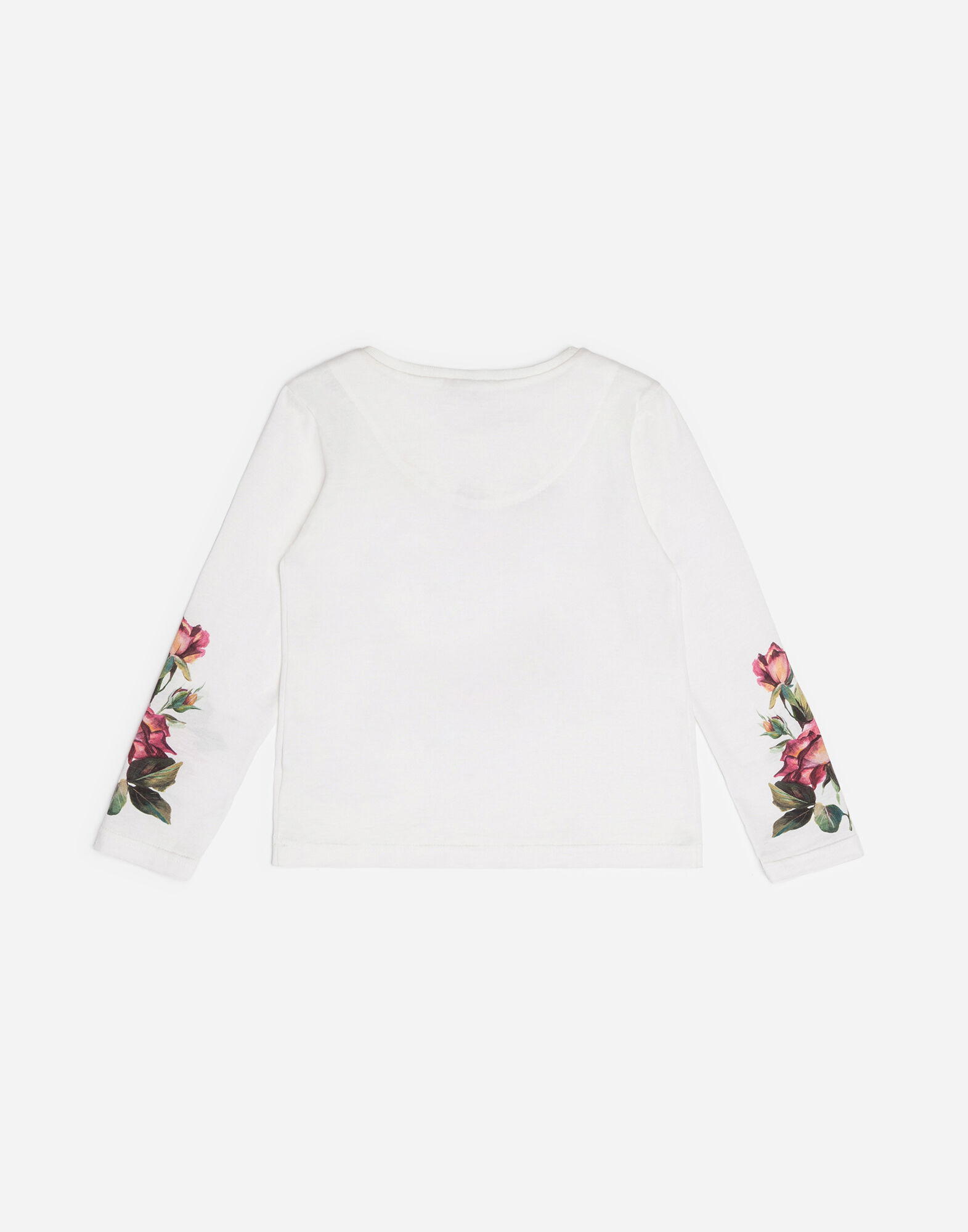 PRINTED COTTON T-SHIRT WITH PATCHES