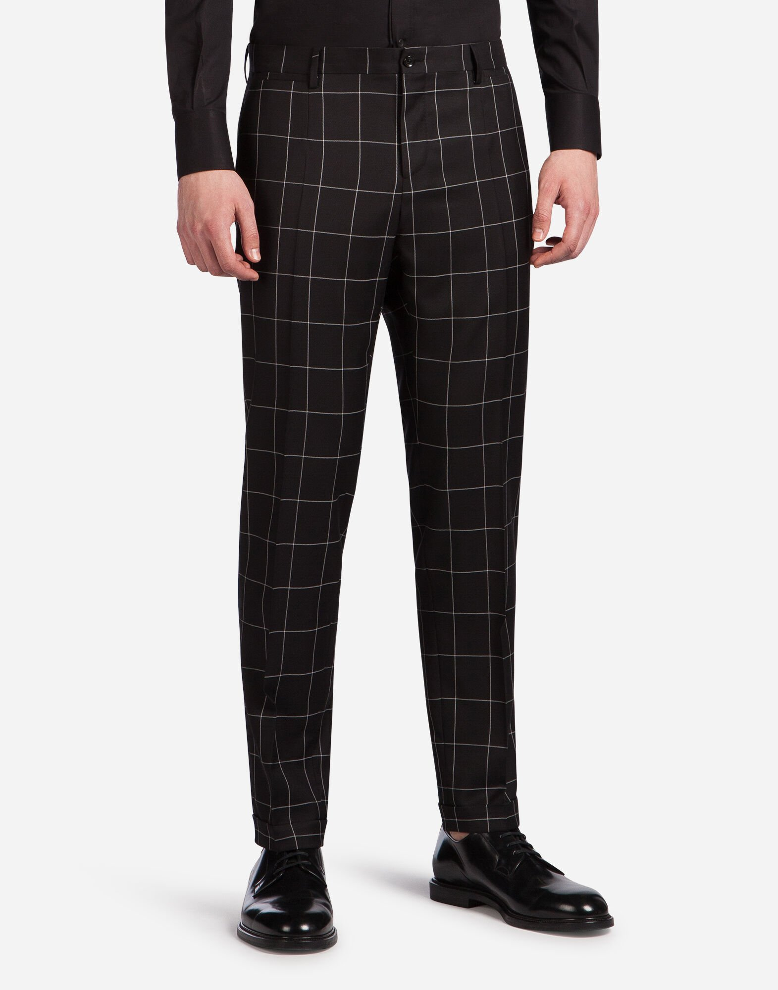 TWO PIECE SUIT IN CHECKERED WOOL