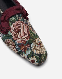 CANVAS SLIPPERS WITH RUCHE DETAILS